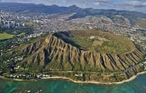 Diamond Head and the crater
